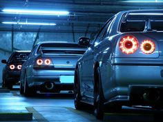 A few generations of the Nissan Skyline.