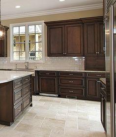 Dark brown kitchen cabinets dark kitchen design ideas home decor Kitchen Cabinet Design, Kitchen Redo, Home Decor Kitchen, New Kitchen, Home Kitchens, Kitchen White, Small Kitchens, Taupe Kitchen, Espresso Kitchen