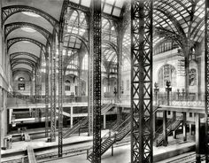 """Penn Station -- before the 1963 """"reconstruction"""" and the Madison Square Garden uglification"""
