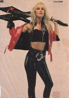 Lita Ford-I know the chances are slim to none but before I die I'd give anything to jam with Lita. Estilo Heavy Metal, Heavy Metal Girl, Heavy Metal Style, Heavy Metal Fashion, Heavy Metal Bands, Lita Ford, Estilo Rock, 80s Rock Fashion, Style Fashion