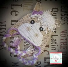 Crochet Horse Hat by jetaimeboutique83406 on Etsy