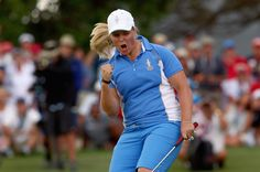 Wow - My Hats off to Caroline - A True Young Star. Caroline Hedwall has won five times in the Ladies European Tour and this young (24) Swedish golfer won all of her matches this weekend for a total of five points. This is something that no other player has ever achieved in the Solheim Cup history.