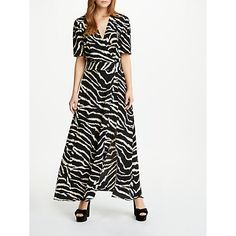 d55a492a3c7 Buy Somerset by Alice Temperley Zebra Print Wrap Maxi Dress, Black Online at  johnlewis.