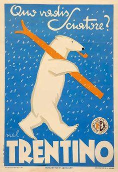 Vintage Italian Posters ~ #illustrator #Italian #posters #vintage ~ Trentino Poster