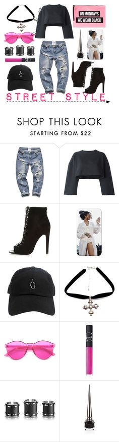 """Street Style"" by adswil ❤ liked on Polyvore featuring adidas Originals, River Island, Child Of Wild, NARS Cosmetics and Christian Louboutin"
