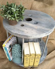 Austin: End Table made from electrical spool like Ballard Designs $100 - http://furnishlyst.com/listings/104740