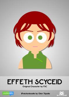 """EFFETH SCYCEID"", original character by FSC. #VectorDoodle by Glen Tripollo"