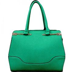 Double Handle Handbag with Gold Tone Hardware – Handbag Addict.com