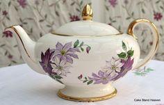 Vintage Sadler Teapot Elegant  Clematis Pattern