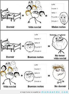 Universidad | Memes Para Facebook en Español ->> MEMEando.com
