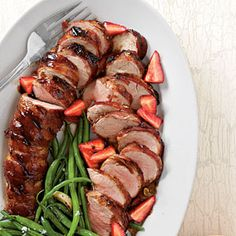Pork Tenderloins with Balsamic Strawberries Recipe | MyRecipes.com Mobile