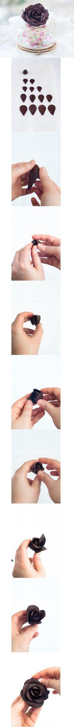 DIY Pretty Polymer Clay Rose DIY Projects / UsefulDIY.com