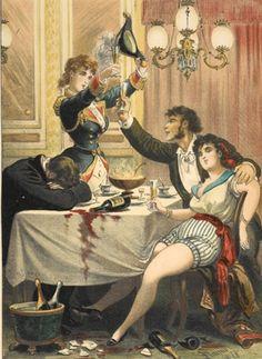 From the Untold Lives blog post 'Alcohol's Alphabet'. Image: Historia de una mujer: album de cincuenta cromos.