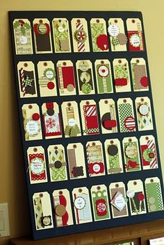 tags - could do this with envelopes for an Advent calendar