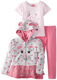 Young Hearts Little Girls' 3 Piece Bear French Terry Jacket Set, Grey, 3T Young Hearts http://www.amazon.com/dp/B00LCUZU48/ref=cm_sw_r_pi_dp_Rbc2ub0QSGGGC