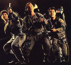 """Harold Ramis, Bill Murray and Dan Aykroyd ~ """"Ghostbusters"""" (1984). The movie wouldn't have worked nearly as well if Bill Murray wasn't able to play off Harald Ramis and Dan Aykroid. This is one of the more memorable pictures from the film"""