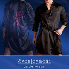 Mannen Kimono L/XL - Zwart, super comfortabel bij jouw lingeriewinkel Playwear.nl! #lingerie #lingeriewinkel #lingeriestore #play #playwear #playwearnl #sexy #panty #beautiful