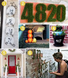 House numbers -really love the red