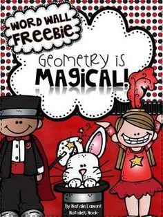 """I just added this to my unit """"Geometry Is Magical.""""I have created 9 word wall cards (with definitions and pictures) for important 2D geometry vocabulary.I hope you find these useful:)Thank you for stopping by!~Natalie"""