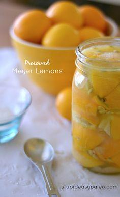 Preserved Meyer Lemon | stupideasypaleo.com #cooking #lemons