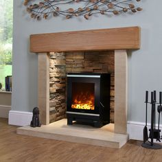 Found it at Wayfair.co.uk - Glass Electric Fireplace