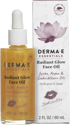 Derma E SunKissAlba Radiant Glow Oil- im dying to try this oil since it came out, right now it seems to be the perfect time since its summer.  #affiliate #crueltyfreebeauty #greenbeauty #faceoil #glow #summerglow #vegancosmetics #allnatural #allnaturalcosmetics