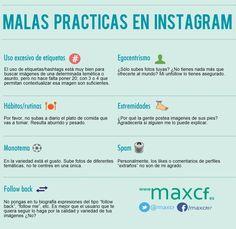 Malas prácticas en Instagram #infografia