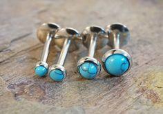 Pierre Turquoise Cartilage oreille Tragus Earring Monroe Helix Piercing vous choisir la taille de Pierre