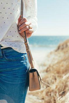 2ae074f68f50b Sophie shoelover scarborough beach jeans j.crew jcrew sunny sun sunglasses  glasses bag water ocean