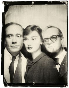 Avedon Photomatic Photograph of Mel Ferrer, Audrey Hepburn, and Truman Capote, 1957. - The Cut