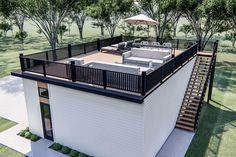 Garage Design, Patio Design, House Design, Patio Deck Designs, Rooftop Terrace Design, Rooftop Patio, Garage Plans With Loft, Garage Ideas, Modern Garage