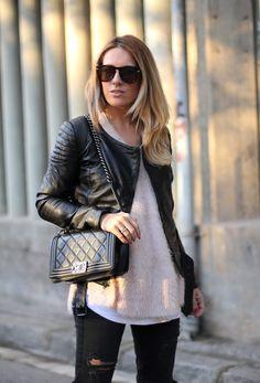 Style femme veste en cuir