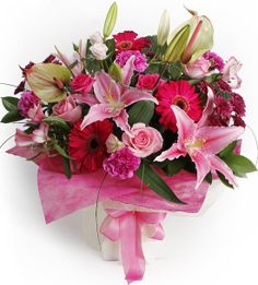 Pink Princess Bouquet for the lover of all things PINK! http://www.theflowerdeliverycompany.co.nz/shop/Flower/Bouquets+%26+Posies/Pink+Princess.html