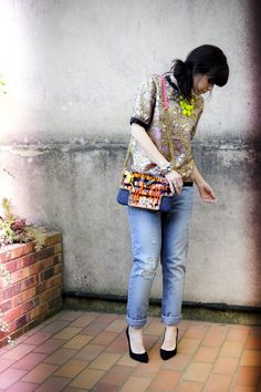 Marni for H top and Blondie's Back x IRM Design bag