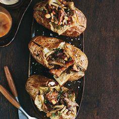 Baked Potatoes with Wild Mushroom Ragů Recipe | MyRecipes