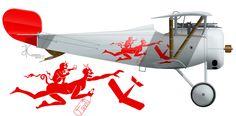 истребитель Ньюпор из 13-го (Казанского) авиаотряда РККА Soviet Nieuport fighter of 13AO