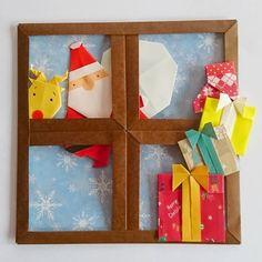 かのん(kanon)さんはInstagramを利用しています:「2018.12.11 (火) @salimarohashi さんが作られてた窓辺の風景が素敵で、いつか!と思っていたのがやっとできましたー💃🎶 予約していた本も届いたし❤️、 #カミキィ…」 Origami Easy, Origami Paper, Diy Paper, Paper Crafts, Christmas Origami, Christmas Crafts, Origami Owl Instructions, Winter Christmas, Xmas