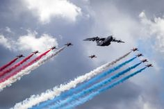 The Red Arrows flew with the mighty Airbus A400M Atlas during the Farnborough…