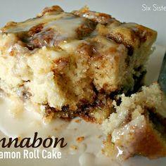 Cinnabon Cinnamon Roll Cake-Five Stars