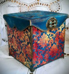 Karin Palalic's photos Decorative Objects, Decorative Boxes, Decorative Paintings, Decoupage Box, Craft Bags, Altered Boxes, Handmade Toys, Painted Furniture, Art Decor