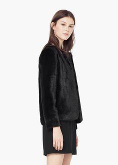 Faux fur coat - Coats for Women | MANGO