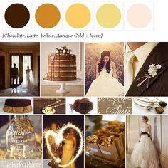 Chocolate + Shades of Gold http://www.theperfectpalette.com/p/color-palettes_17.html