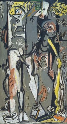 Jackson Pollock, Two, 1943–45. Oil on canvas, 76 x 43 1/4 inches (193 x 110 cm)