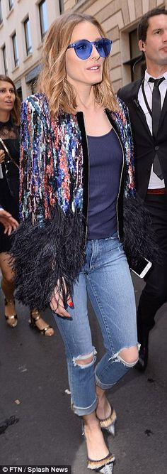 Fashionista: Olivia Palermo reiterated her style prowess as she attended the Elie Saab Fall/Winter 2017 show during Haute Couture Fashion Week in Paris on Wednesday