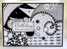 Birthday zentangles by mlnapier cards and paper crafts at