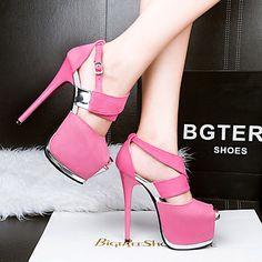 Women's Sandals Summer Sandals / Open Toe PU Dress Stiletto Heel Others  #05166186