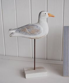 Wooden seagull - The White Lighthouse