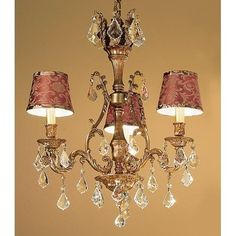 Classic Lighting 57362-FG 24 Crystal Chandelier from the Majestic Collection (crystalique golden teak)