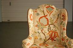 Original Vintage Queen Anne Style Wing Chair by TheSouthernMermaid, $999.00