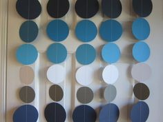 Paper Garland Blue Grey and White Garland Blue by SuzyIsAnArtist